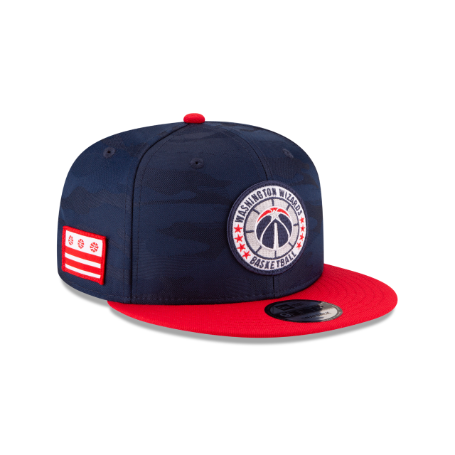 WASHINGTON WIZARDS 2018 NBA AUTHENTICS: TIP OFF SERIES TWO-TONE 9FIFTY SNAPBACK 3 quarter right view