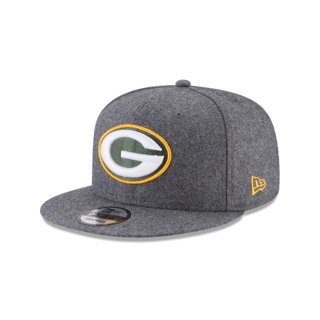 GREEN BAY PACKERS MELTON WOOL 9FIFTY SNAPBACK 3 quarter left view