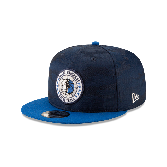 DALLAS MAVERICKS 2018 NBA AUTHENTICS: TIP OFF SERIES TWO-TONE 9FIFTY SNAPBACK 3 quarter left view