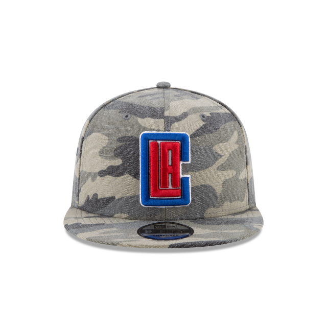LOS ANGELES CLIPPERS CANVAS CAMO 9FIFTY SNAPBACK Front view