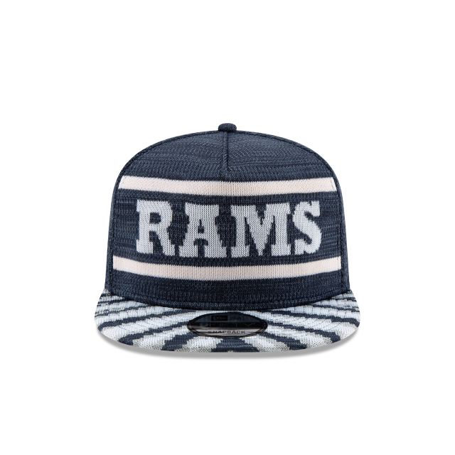 LOS ANGELES RAMS FRESH FRONT ZUBAZ 9FIFTY SNAPBACK Front view