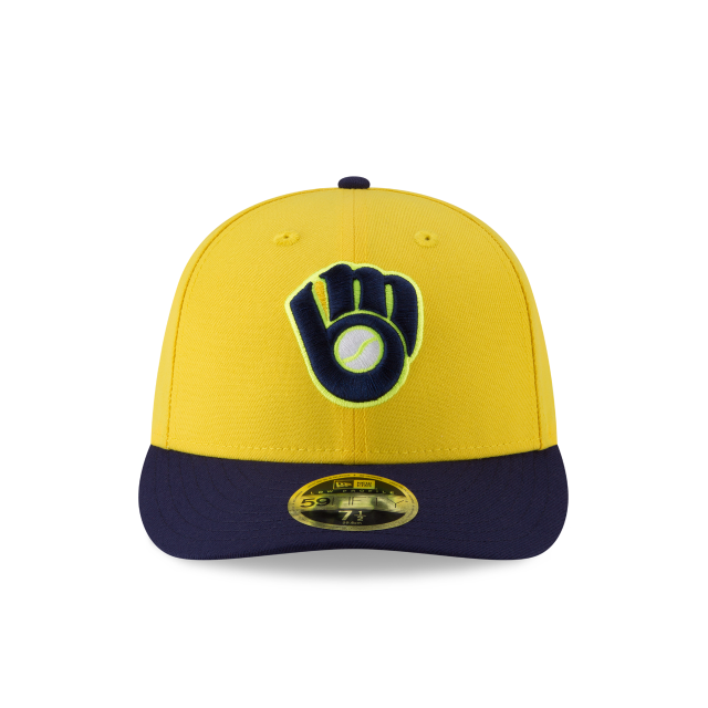 MILWAUKEE BREWERS PLAYERS WEEKEND LOW PROFILE 59FIFTY FITTED Front view