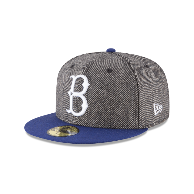 BROOKLYN DODGERS LUXURY TWEED 59FIFTY FITTED 3 quarter left view