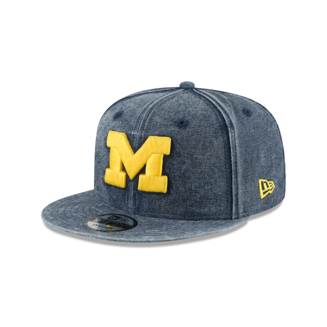 MICHIGAN WOLVERINES RUGGED CANVAS 9FIFTY SNAPBACK 3 quarter left view