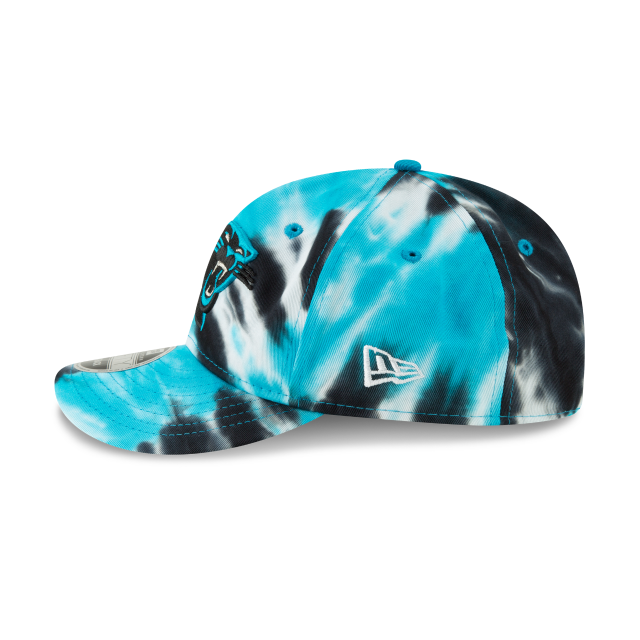 CAROLINA PANTHERS MARBLED RETRO CROWN 9FIFTY SNAPBACK Left side view
