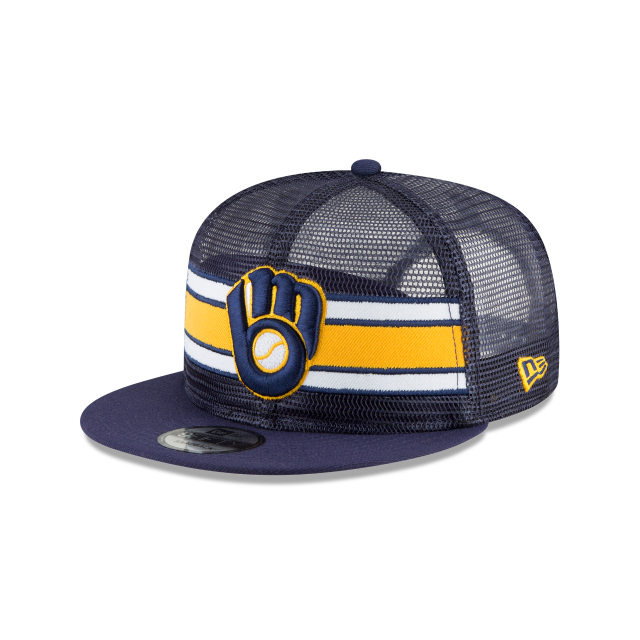 MILWAUKEE BREWERS MESH FRONTED 9FIFTY SNAPBACK 3 quarter left view