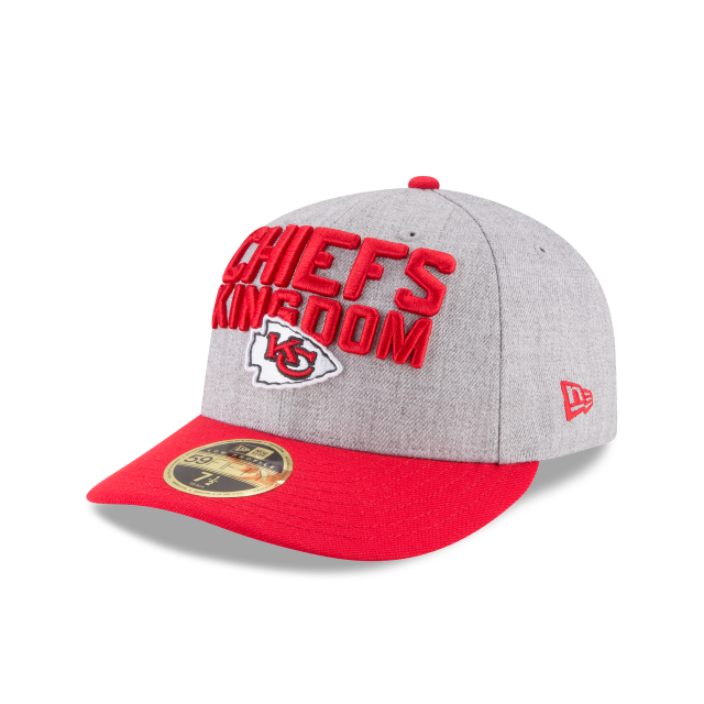 2163ba77f3e KANSAS CITY CHIEFS NFL DRAFT ON STAGE LOW PROFILE 59FIFTY FITTED 3 quarter  left view