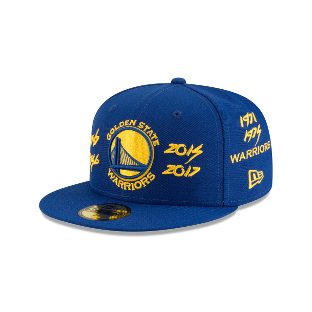 GOLDEN STATE WARRIORS TEAM ARCHIVE 59FIFTY FITTED  3 quarter left view