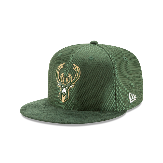 MILWAUKEE BUCKS ON COURT 9FIFTY SNAPBACK 3 quarter left view