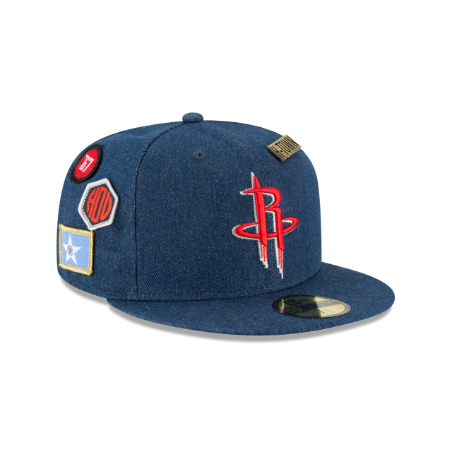 e4b3a7844 ... discount code for houston rockets nba draft denim 59fifty fitted 3  quarter right view 0fac8 4b789