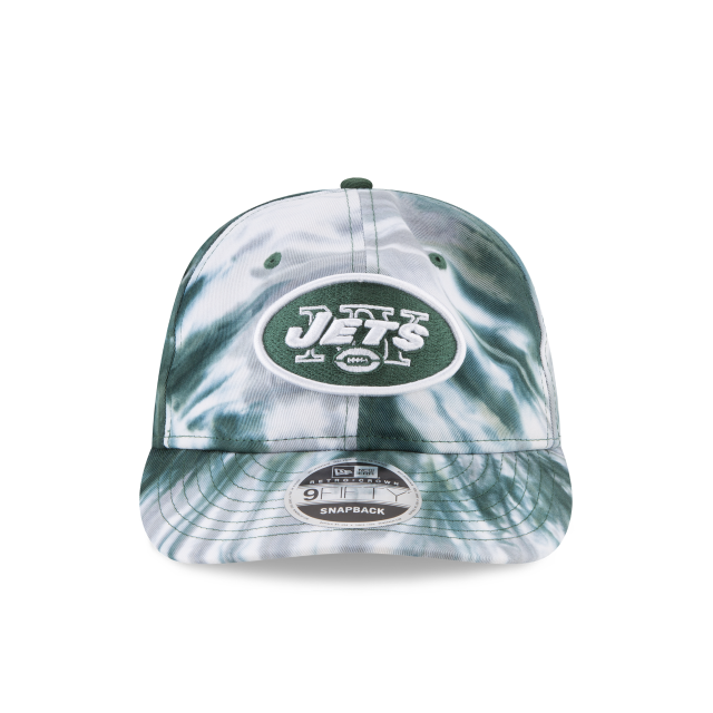 NEW YORK JETS MARBLED RETRO CROWN 9FIFTY SNAPBACK Front view