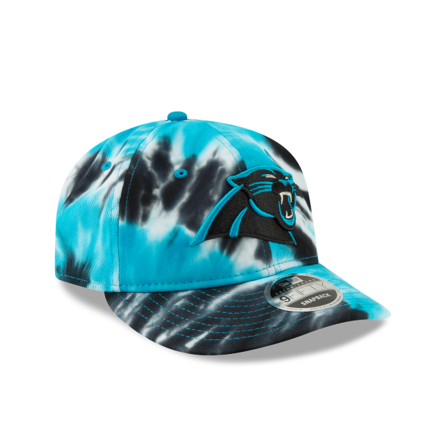CAROLINA PANTHERS MARBLED RETRO CROWN 9FIFTY SNAPBACK 3 quarter right view