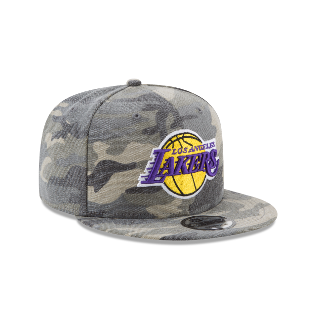 7feb71c9e2a LOS ANGELES LAKERS CANVAS CAMO 9FIFTY SNAPBACK 3 quarter right view