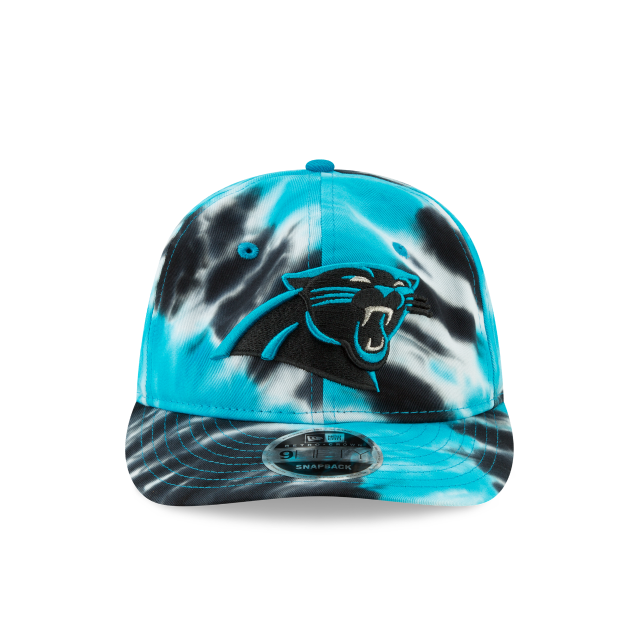 CAROLINA PANTHERS MARBLED RETRO CROWN 9FIFTY SNAPBACK Front view