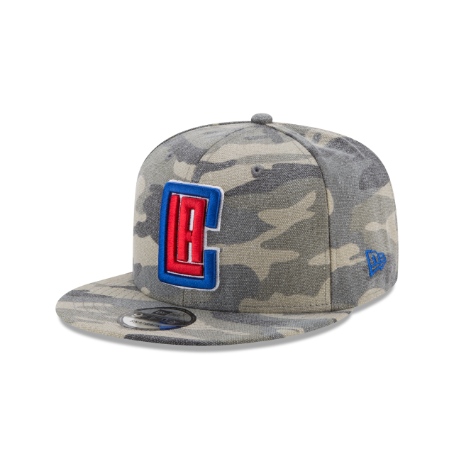 LOS ANGELES CLIPPERS CANVAS CAMO 9FIFTY SNAPBACK 3 quarter left view