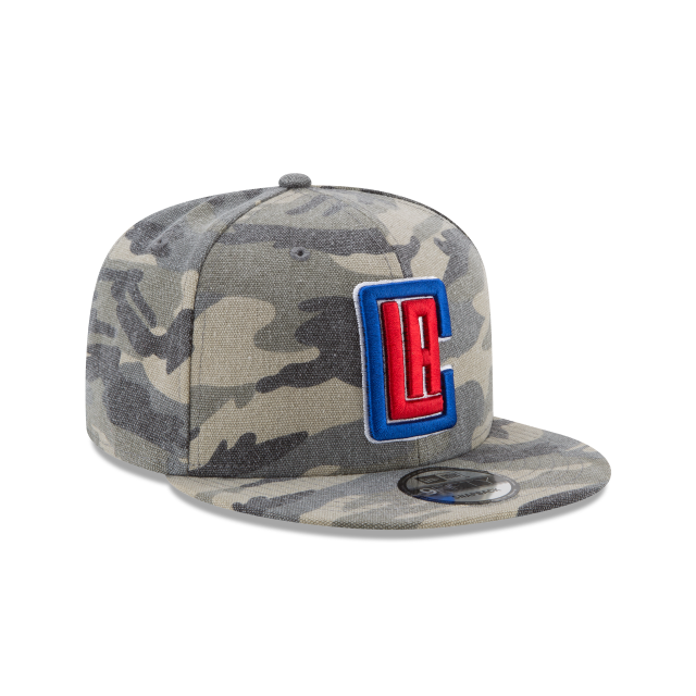 LOS ANGELES CLIPPERS CANVAS CAMO 9FIFTY SNAPBACK 3 quarter right view