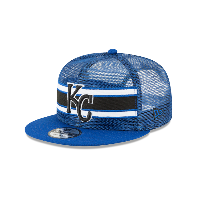 KANSAS CITY ROYALS MESH FRONTED 9FIFTY SNAPBACK 3 quarter left view