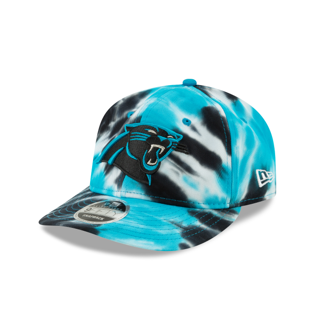 CAROLINA PANTHERS MARBLED RETRO CROWN 9FIFTY SNAPBACK 3 quarter left view
