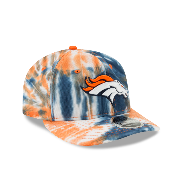 DENVER BRONCOS MARBLED RETRO CROWN 9FIFTY SNAPBACK 3 quarter right view