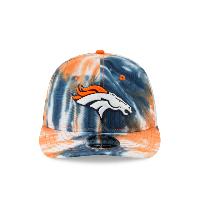 DENVER BRONCOS MARBLED RETRO CROWN 9FIFTY SNAPBACK Front view
